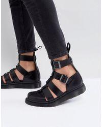Dr. Martens - Geraldo Ankle Strap Sandals In Black - Lyst