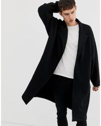 ASOS Extreme Oversized Jersey Duster Jacket In Black