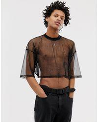 ASOS T-shirt oversize corta - Nero