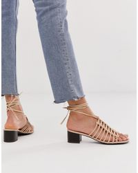 New Look Cut Out Sandal - Pink