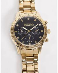 Missguided Черные/золотистые Часы -золотой - Металлик