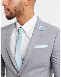 Burton Wedding – Set mit Krawatte & Anstecknadel - Grün