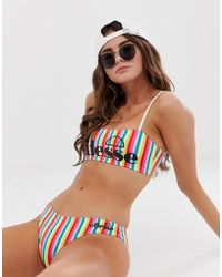 Ellesse - Hipster Bikini Bottom In Rainbow Stripe - Lyst
