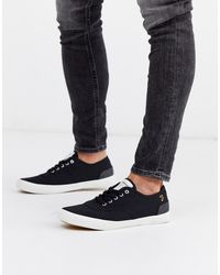 Farah - Cupsole Trainers In Black - Lyst