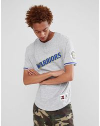 Mitchell & Ness - Nba Golden State Warriors Retro T-shirt In Grey - Lyst