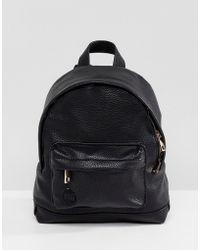 Mi-Pac - Super Mini Tumbled Pu Backpack In Black - Lyst