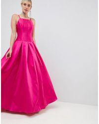 Jovani - Square Neck Maxi Prom Dress - Lyst