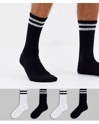 Jack & Jones 4 Pack Tennis Socks - Multicolor