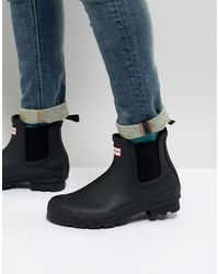 HUNTER Original - Chelsea Boots - Zwart