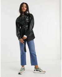 Pull&Bear Camicia giacca - Nero