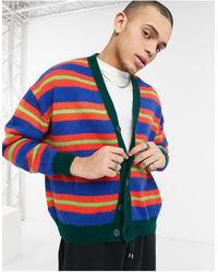 ASOS Knitted Oversized Cardigan - Blue