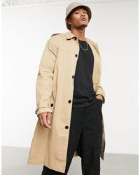 ASOS Trench-coat droit léger - Camel - Marron