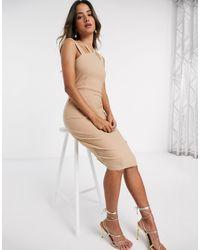 Vesper Платье Миди С Бретельками -коричневый