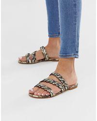 Miss Selfridge Plaited Sandals - Multicolour