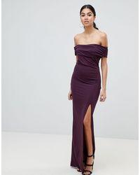 AX Paris - Robe longue style Bardot - Lyst