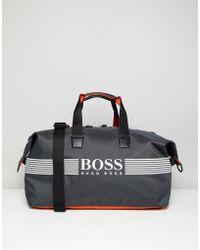 BOSS - Pixel Zt Holdall In Grey - Lyst