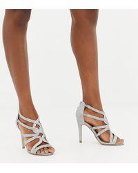 6909749e2fef New Look Glitter Block Heeled Shoe in Metallic - Lyst