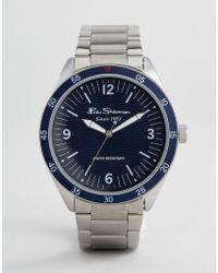Ben Sherman - Bs007usm Bracelet Watch In Silver - Lyst
