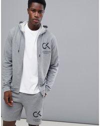 Calvin Klein - Zip-thru Logo Hoodie - Lyst