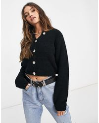 Missguided Cropped Cardigan - Black