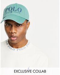 Polo Ralph Lauren Зеленая Кепка С Текстовым Логотипом X Asos Exclusive Collab-зеленый Цвет