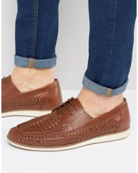 Red Tape - Woven Lace Up Shoes - Lyst
