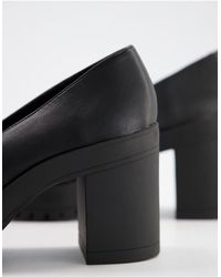 London Rebel Heeled Trim Loafers - Black