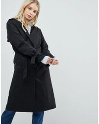 ONLY - Cecile Collarless Trench Coat - Lyst