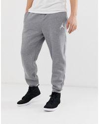21160877963c7 Nike Tech Fleece Joggers In Slim Fit In Green 805162-355 in Gray for ...