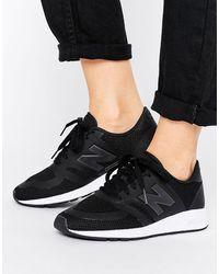 New Balance Черные Кроссовки Из Микросеточки 420 - Черный