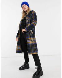 Noisy May Tailored Longline Coat - Multicolour