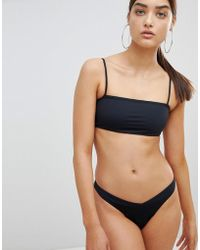 TWIIN - Paige Ribbed Brazilian Bikini Bottom - Lyst