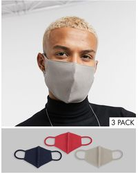 ASOS 3 Pack Organic Cotton Jersey Face Coverings - Multicolour