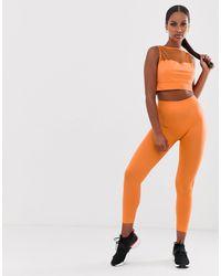 South Beach - Оранжевые Леггинсы С Сетчатой Отделкой -оранжевый - Lyst