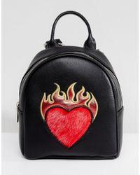 Skinnydip London - Flame Heart Mini Backpack - Lyst