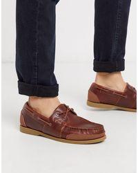 Lacoste Chaussures bateau en cuir - Marron