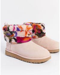 UGG Стеганые Ботинки -розовый Цвет