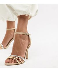 ALDO - Strap Leather Heeled Sandal - Lyst
