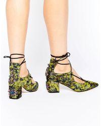 ASOS - Saloon Embellished Heels - Lyst