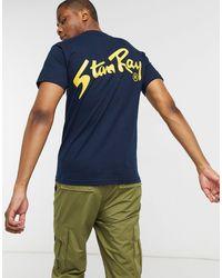 Stan Ray OG - T-shirt imprimé dans le dos - Bleu marine