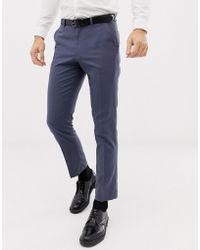 ASOS - Pantalones de traje de corte slim en azul pizarra de - Lyst