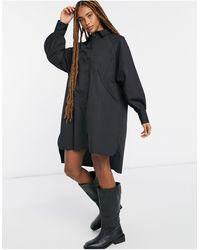 ASOS Oversized Boyfriend Mini Shirt Dress - Black