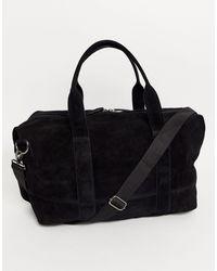 ASOS Suede Holdall Bag - Black