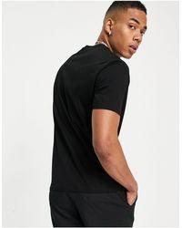 Armani Exchange - Черная Футболка С Логотипом На Груди -черный Цвет - Lyst