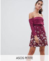 ASOS Minivestido con top corto y estampado floral - Multicolor