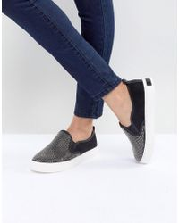ALDO - Jille Slip On Trainer With Crystal Studs - Lyst