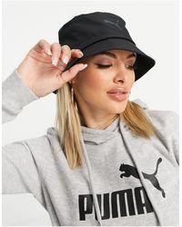 PUMA - Cappello da pescatore nero - Lyst