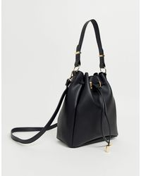 ASOS Bonded Bucket Bag - Black