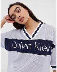 Calvin Klein Camisón varsity en azul Directional Lounge