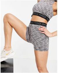 Nike - – Pro – melierte Shorts, 3 Zoll - Lyst
